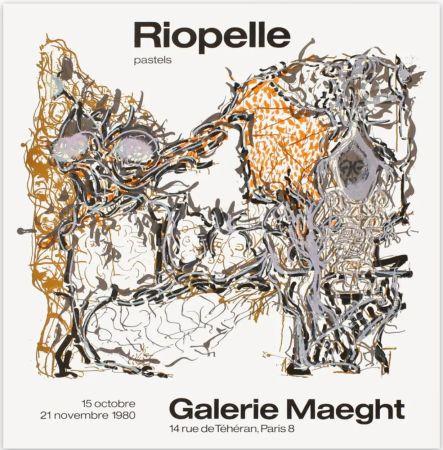 Manifesti Riopelle - Affiche lithographique originale de la Galerie Maeght 1980.
