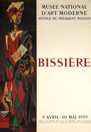 Litografia Bissiere - Affiche Musee D'art Moderne de Paris