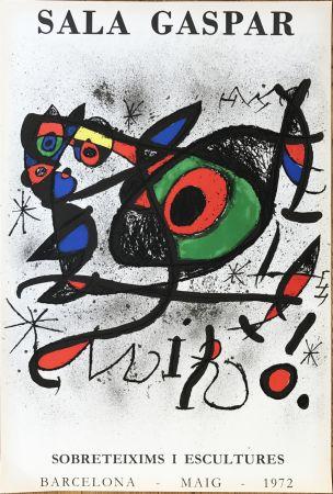 "Litografia Miró - Affiche pour l' exposition ""Sobreteixims i escultures"". Sala Gaspar, Barcelona."