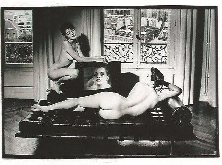 Fotografie Newton - After Velazquez in my apartment French Vogue
