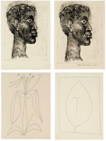 Libro Illustrato Picasso - Aimé Césaire : CORPS PERDU. 32 gravures + suite sur Japon (1950)