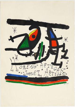 Litografia Miró - A.L Exposición 1971