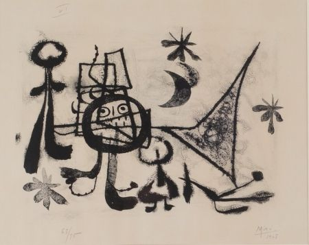 Litografia Miró - Album 13, Plate VI