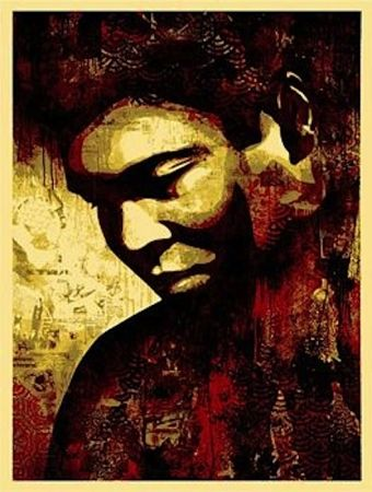 Serigrafia Fairey - Ali Canvas
