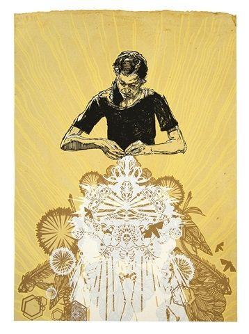 Serigrafia Swoon - Alison The Lacemaker