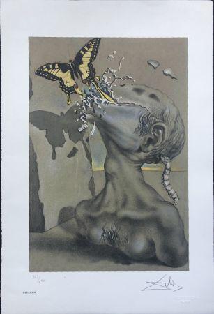Litografia Dali - Allegoria di Lama INTERGRAFICA 38X56