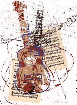 Serigrafia Arman - Allegro pour guitare