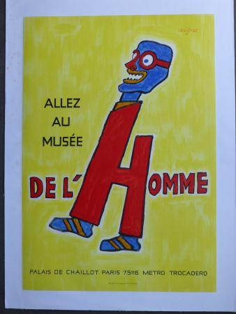 Manifesti Savignac - Allez au musée de l'homme