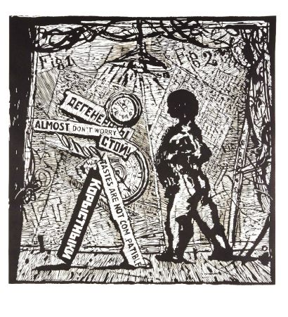 Linoincisione Kentridge - Almost Don't Worry