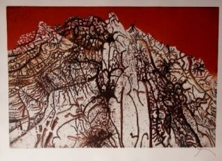 Acquaforte E Acquatinta Prassinos - Alpine rouge
