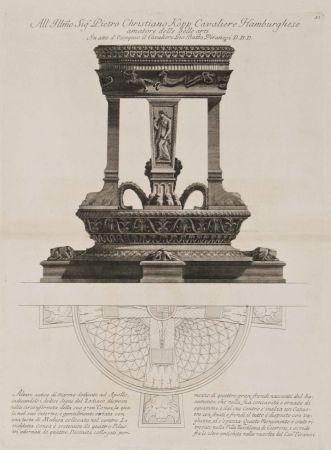 Incisione Piranesi - Altar de Apolo