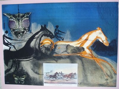 Litografia Dali - American Trotting Horses No. 2