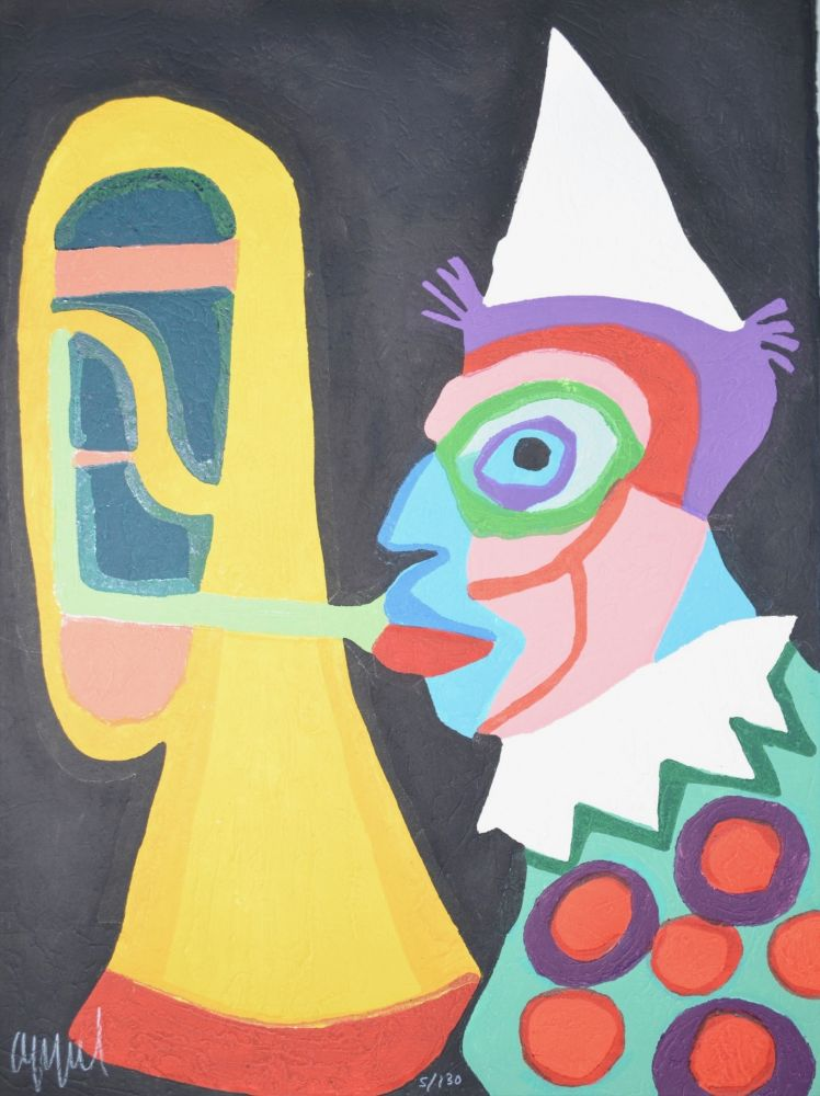 Acquatinta Appel - Amsterdam clown