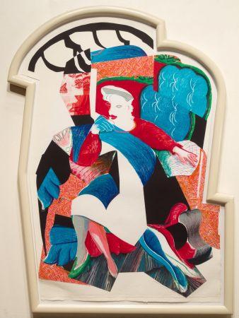 Litografia Hockney - An Image of Celia, State II