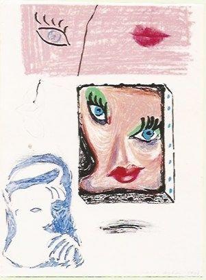 Litografia Hockney - An image of Celia Study