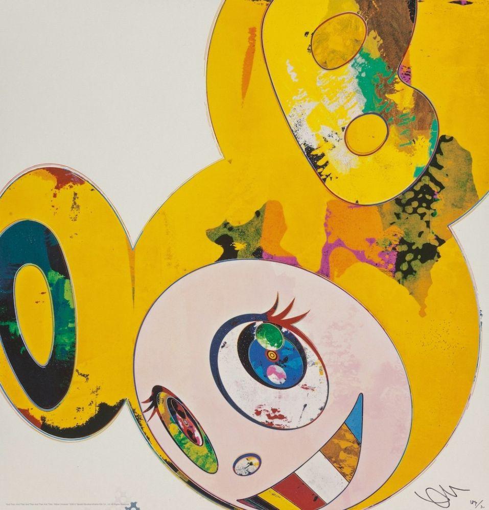 Litografia Murakami - And Then... (Yellow)
