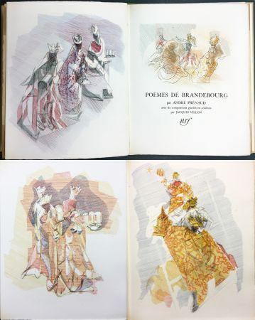 Libro Illustrato Villon - André Frénaud : POÈMES DE BRANDEBOURG (1947)