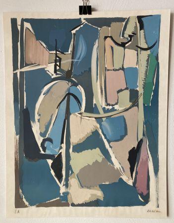 Litografia Lanskoy - André Lanskoy (1902 - 1976). Moyse.