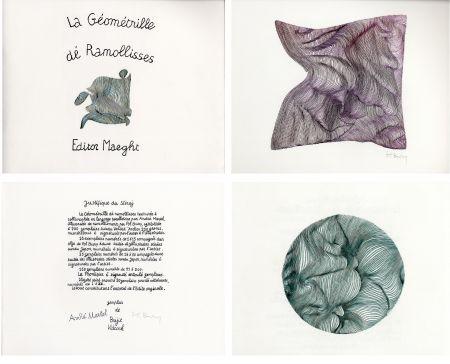Libro Illustrato Bury - André MARTEL : LA GÉOMÉTRILLE DÉ RAMOLLISSES. Textures paralloïdes d'André Martel vec dé mollimages de Pol Bury (1975)