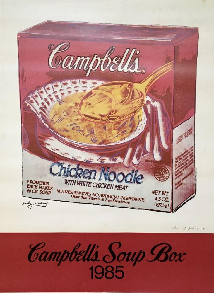 Offset Warhol - Andy Warhol 'Campbell's Soup Box' 1985 Hand Signed Original Pop Art Poster
