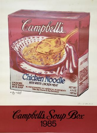 Offset Warhol - Andy Warhol 'Campbell's Soup Box' 1985 Hand Signed Original Pop Art Poster
