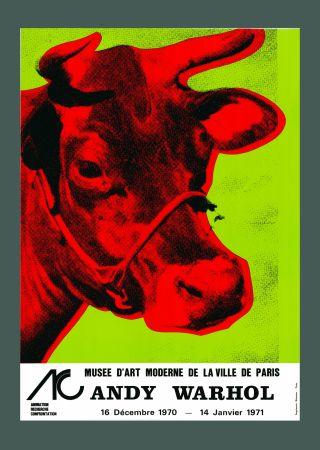 Litografia Warhol - Andy Warhol 'Cow Wallpaper (Green)' 1970 Hand Signed Original Pop Art Poster with COA