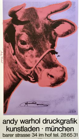 Serigrafia Warhol - Andy Warhol 'Cow Wallpaper (Magenta)' 1983 Hand Signed Original Pop Art Poster