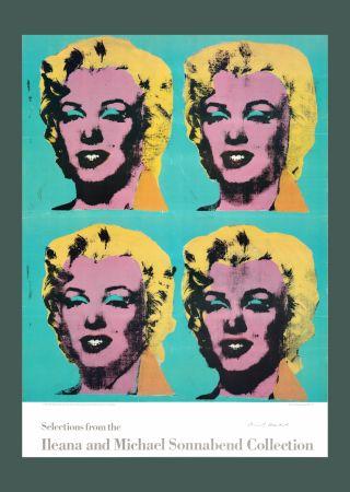 Litografia Warhol - Andy Warhol 'Four Marilyns' 1985 Hand Signed Original Pop Art Poster