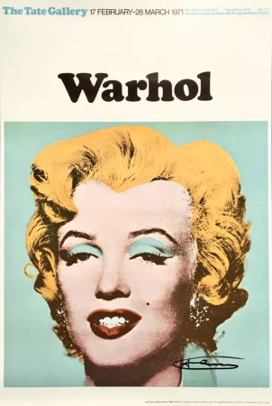 Litografia Warhol - Andy Warhol 'Marilyn (Tate Gallery)' 1971 Hand Signed Original Pop Art Poster