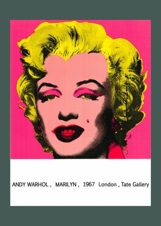Litografia Warhol - Andy Warhol 'Marilyn (Tate Gallery)' 1987 Hand Signed Original Pop Art Poster