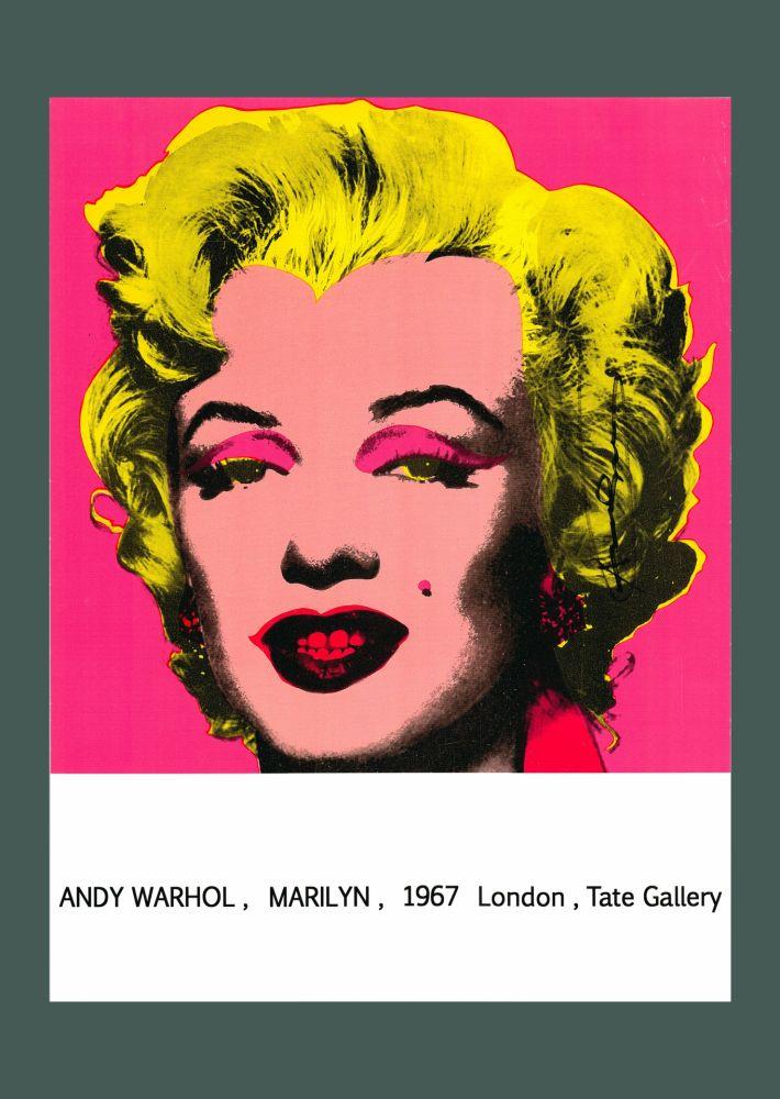 Litografia Warhol - Andy Warhol 'Marilyn (Tate Gallery)' 1987 Hand Signed Original Pop Art Poster with COA