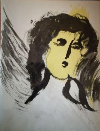 Litografia Chagall - Ange
