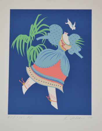 Litografia Indiana - Angel More - Mother of us all portfolio