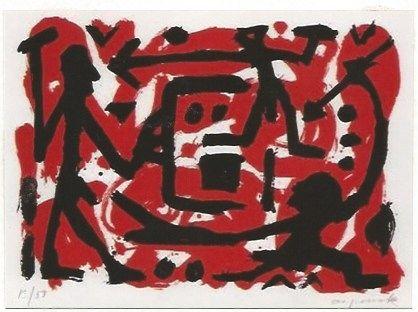 Serigrafia Penck - Angriff und Verteidigung