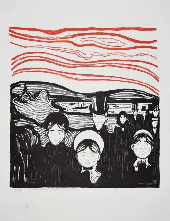Litografia Munch - ANGST / ANXIETE 1896