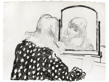 Litografia Hockney - Ann Combing Her Hair