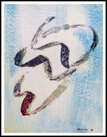 Litografia Fautrier - ANNABELLE NUE