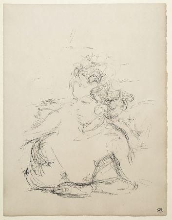 Litografia Giacometti - ANNETTE (de la suite