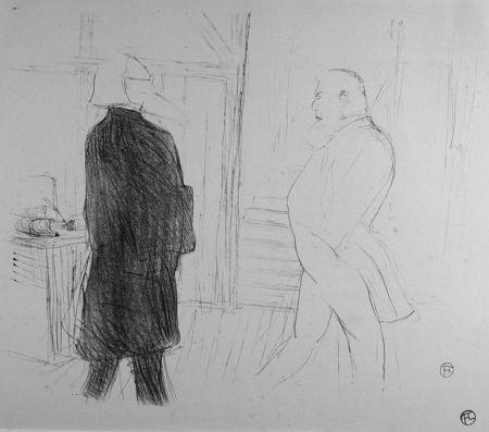 Litografia Toulouse-Lautrec - Antoine et Gémier, dans une Faillite