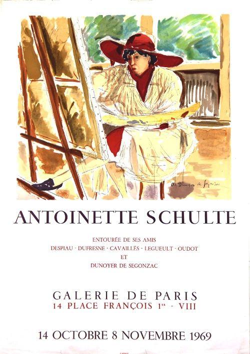 Litografia De Segonzac - Antoinette  Schulte  Galerie de Paris