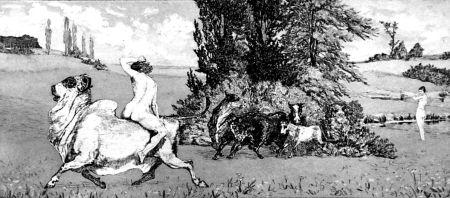 Acquaforte E Acquatinta Klinger - Apollo e Dafne III