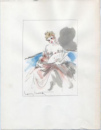 Non Tecnico Icart - AQUARELLE ORIGINALE POUR LA NUIT ET LE MOMENT (1946)