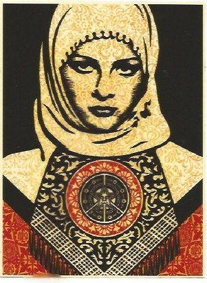 Serigrafia Fairey - Arab woman