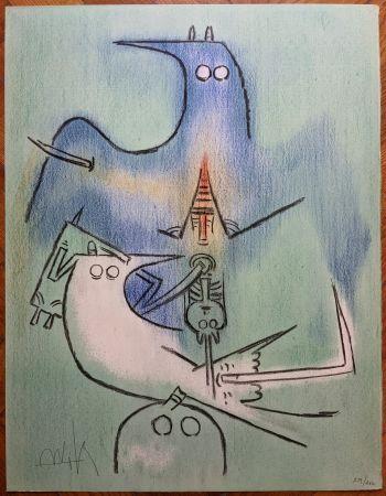 Litografia Lam - Arbre de plumes