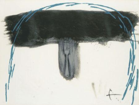 Acquaforte Tàpies - Arc blau (Blauer Bogen)