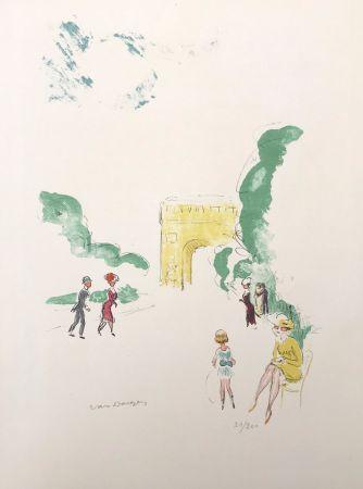 Litografia Van Dongen - Arc de Triomphe