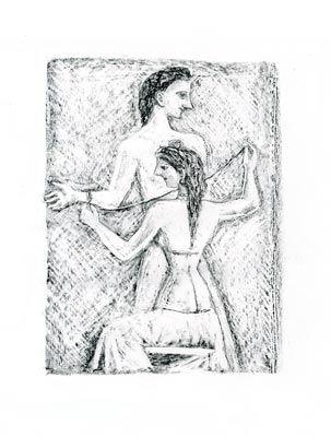 Litografia Campigli - Arianna I (Theseus)