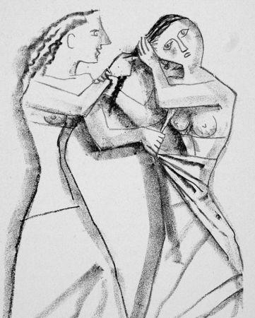 Litografia Campigli - Arianna II