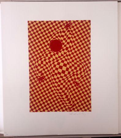 Litografia Vasarely - Arlequin