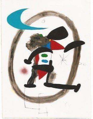Litografia Miró - Arlequin Circonscrit